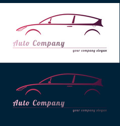 set of red auto service logos vector image vector image
