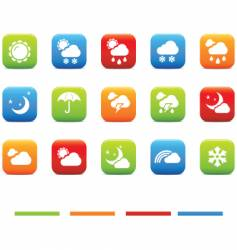 weather 4 colors vector image