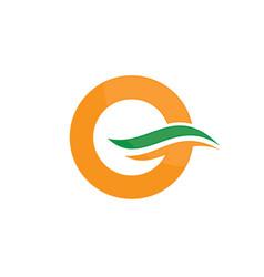 abstract circle wave logo image vector image vector image