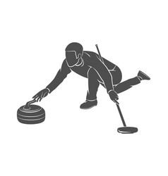curling game sport vector image