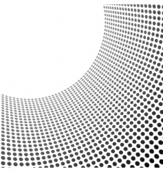 curved circles pattern vector image