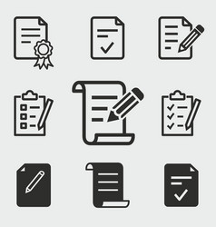 form icons set vector image vector image