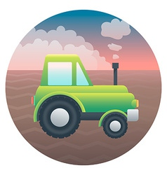Tractor Detailed vector image vector image
