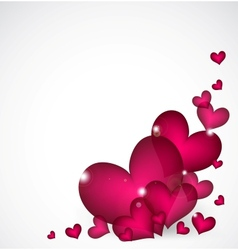 Valentines Day Background with pink hearts vector image