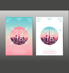 annual report 2018 future business template vector image vector image