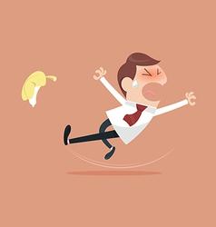 Businessman slipping vector image