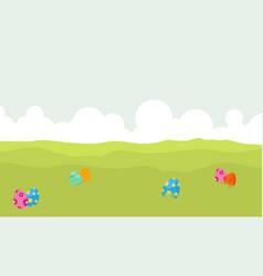 landscape of egg on hill backgrounds vector image