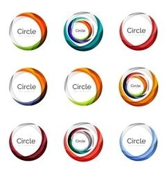 Set of abstract swirls and circles logo vector image vector image