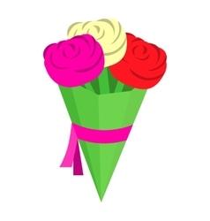 Wedding bouquet isometric 3d icon vector image vector image