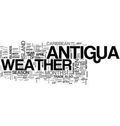antigua villa rentals text word cloud concept vector image vector image