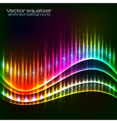 Neon equalizer wave vector image