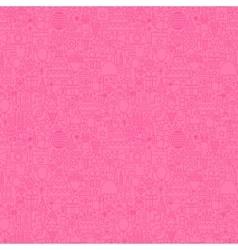 Pink line birthday seamless pattern vector