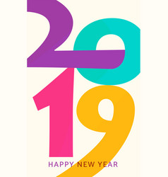 2019 happy new year vertical geometric vector image