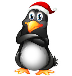 a penguin character on white background vector image