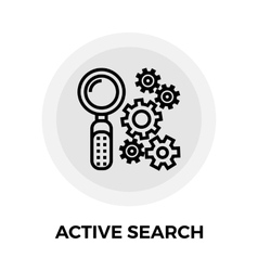 active search icon vector image