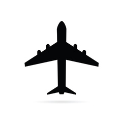 airplane black vector image vector image
