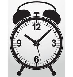 Alarm clock app icon vector image
