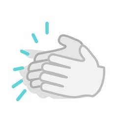 Applause clapping hands icon isometric 3d style vector image