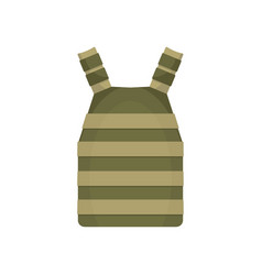 Army vest icon flat style vector