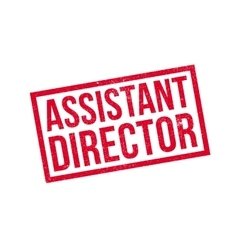 Assistant Director rubber stamp vector image