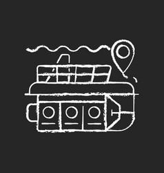 Atlantis submarines chalk white icon on dark vector