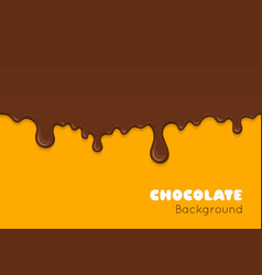 Background of flowing dark chocolate vector