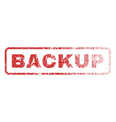 Backup rubber stamp vector