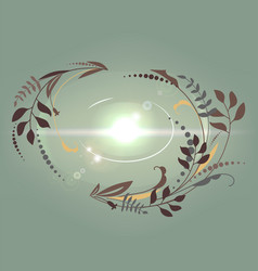 beautiful abstract growing background vector image