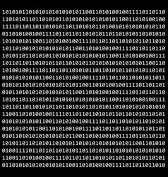 binary code zero one matrix black background vector image