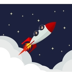 Businessman success rocket vector