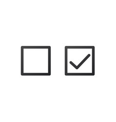 check mark icon in square and blank box isolated vector image