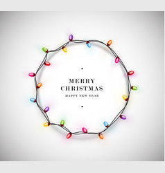 christmas with circled decorative christmas vector image