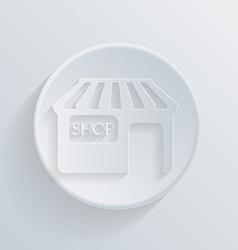 circle icon with a shadow shop building vector image