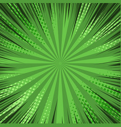 Comic green explosive blank background vector