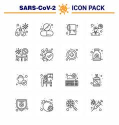 corona virus disease 16 line icon pack suck vector image