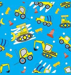 Cute car cartoon seamless pattern with blue vector