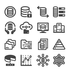 Data icon vector