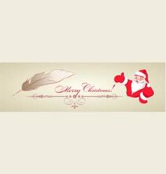design of santa claus and pen vector image