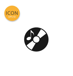 disk or cd icon isolated flat style vector image