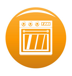 Electric oven icon orange vector