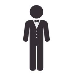 elegant waiter character icon vector image