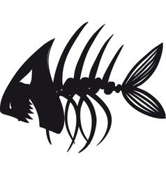 Evil Fish Skeleton vector