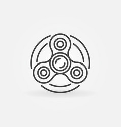 Fidget spinner icon vector