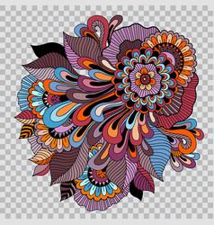 Floral tattoo artwork on transparent background vector