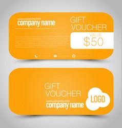 gift card voucher business banner vector image