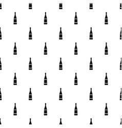 Glass bottle pattern vector