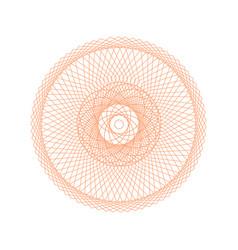 guilloche rosette sign color thin line icon vector image