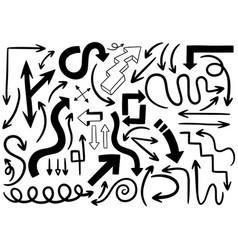 Hand drawn doodle design elements drawn vector
