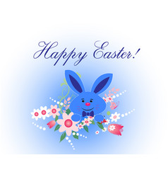 happy easter card template vector image