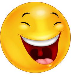 Happy smiley face emoticon cartoon vector